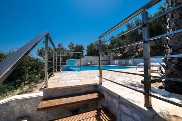 swimming pool Villa Lefkas Greece