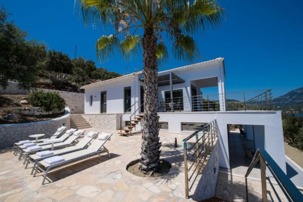 modern design villa Lefkas Greece
