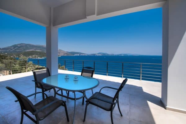 Balcony villa Lefkas with sea view