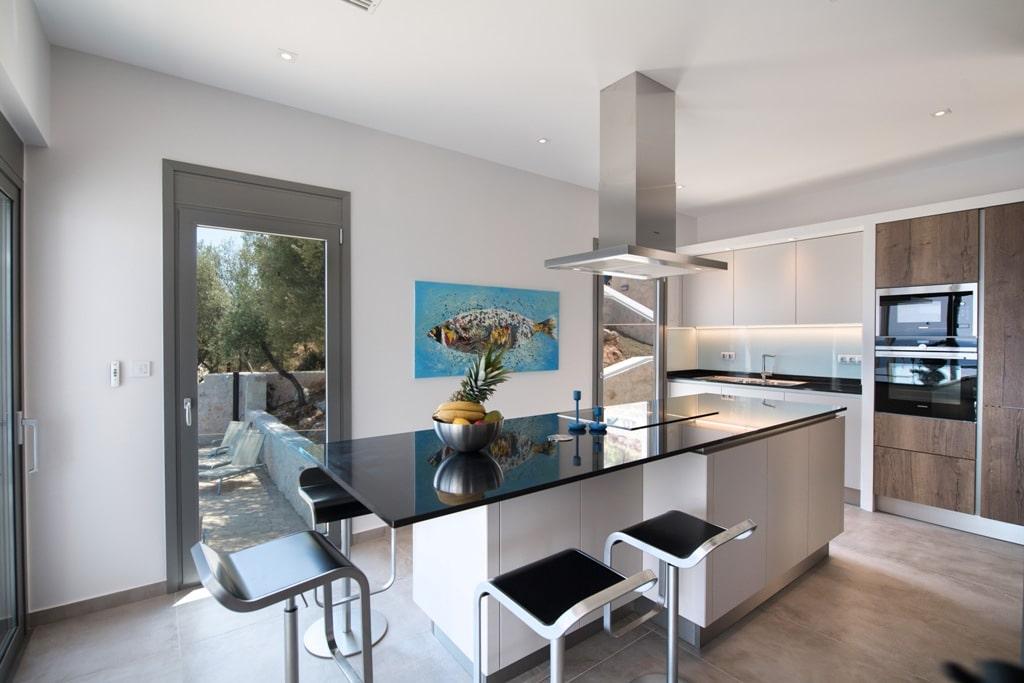 modern kitchen villa Lefkas