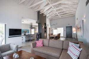 modern design living and dining room Villa Lefkas Greece