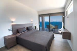 Bedroom with sea view villa lefkas