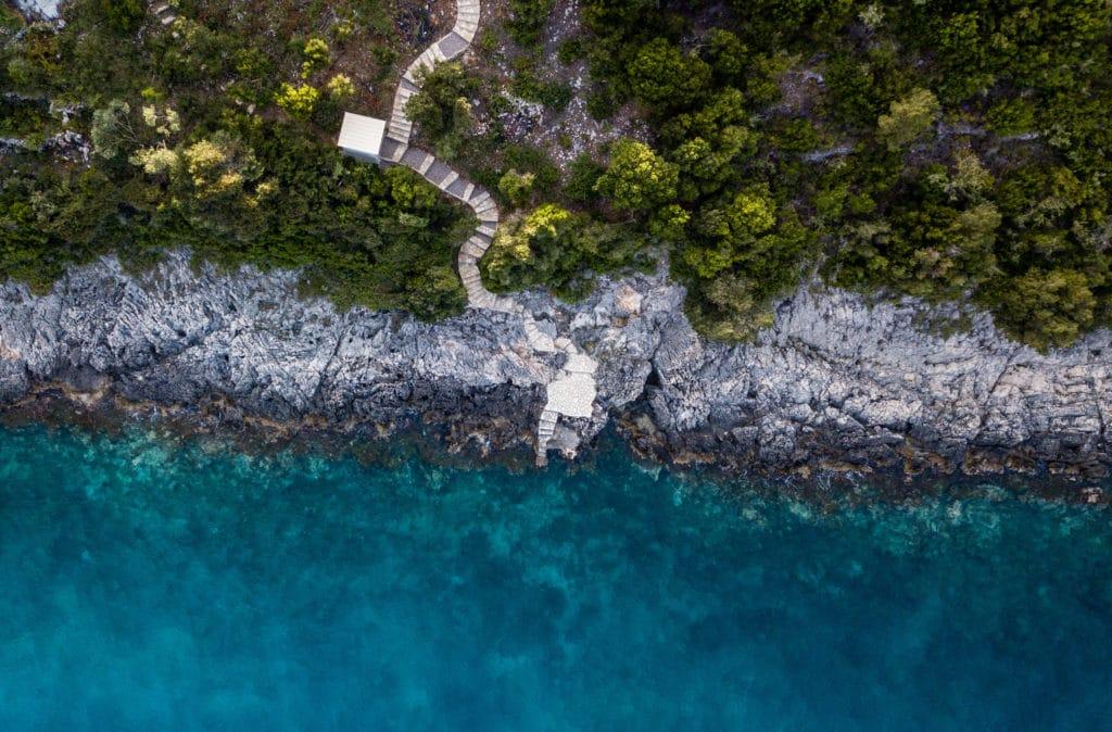 Private platform at sea Lefkada